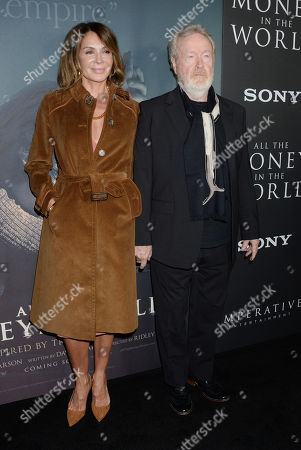 Ridley Scott and wife Giannina Facio