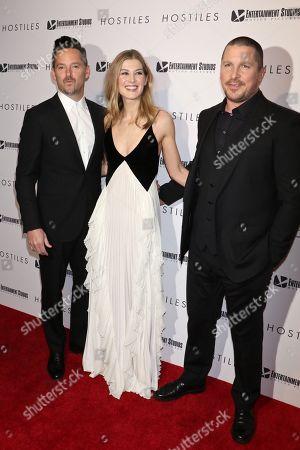 Scott Cooper, Rosamund Pike and Christian Bale