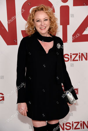 """Actress Virginia Madsen poses at a special screening of the film """"Downsizing"""" at the Regency Village Theatre, in Los Angeles"""