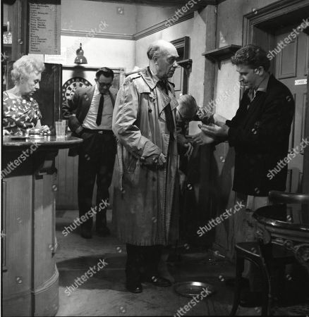 Doris Speed (as Annie Walker), Frank Atkinson (as Sam Leach), Arthur Leslie (as Jack Walker) and Peter Adamson (as Len Fairclough)