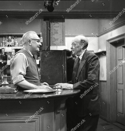 Arthur Leslie (as Jack Walker) and Frank Atkinson (as Sam Leach)