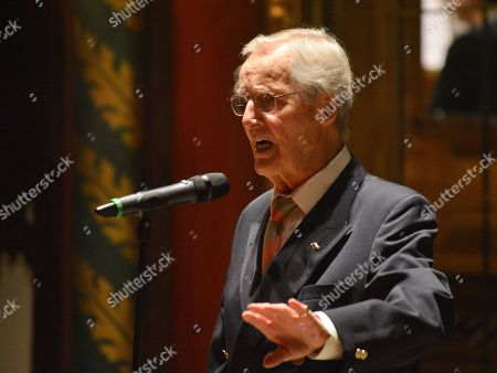 Nicholas Parsons during a reading