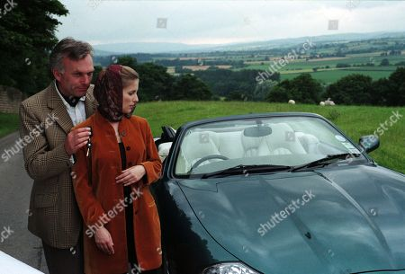 Ep 2412 Tuesday 8th September 1998  Lord Michael stuns Lady Tara by giving her a brand new Jaguar as a present for when she gets her license back. Then he takes her breath away with a huge, sparkling diamond engagement ring - With Lady Tara Oakwell, as played by Anna Brecon and Lord Michael Thornfield, as played by Malcolm Stoddard.