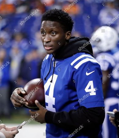 Indiana Pacers guard Victor Oladipo on the sidelines before an NFL football game between the Indianapolis Colts and the Denver Broncos in Indianapolis, . The Broncos defeated the Colts 25-13