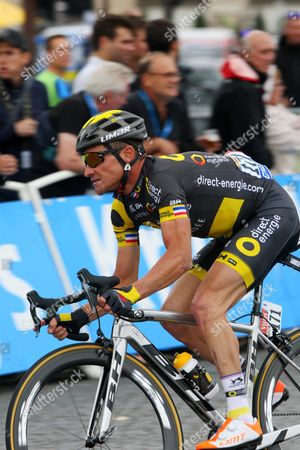 Stock Photo of Tour de France 2017 Stg21 Paris; Thomas Voeckler (Fra) retired from racing when he reached Paris.