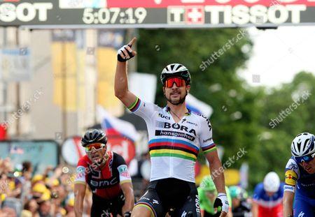 Tour de France 2017 Stage 3 Longwy, World Road Race Champion Peter Sagan (Svk) Dan Martin and Greg Van Avermaet