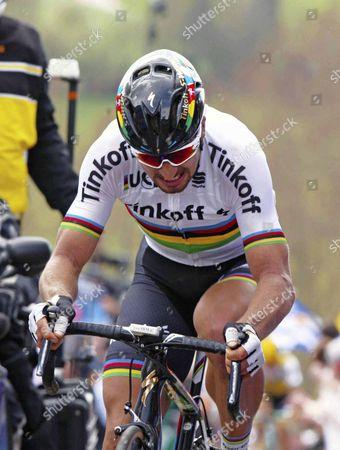 World Champion Peter Sagan SLK Tinkoff winner 2016 Tour des Flandres 255kms 2nd Fabien Cancellara (Sui).