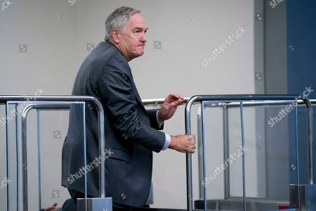 Sen. Luther Strange, R-Ala., arrives as Congress prepares to vote on the biggest reshaping of the U.S. tax code in three decades, on Capitol Hill, in Washington