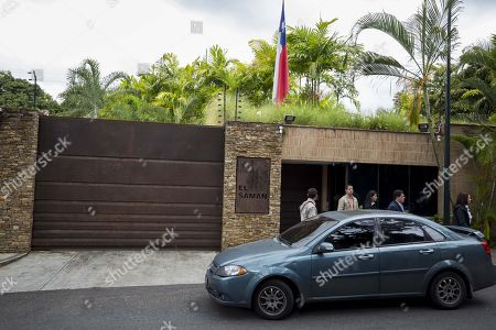 Deputies leave the residency of Chile's ambassador, in Caracas, Venezuela, 19 Decemeber 2017. A commission of the National Assembly of Venezuela (AN, Parliament) noted the good health of Freddy Guevara and Roberto Enriquez, the two opposition politicians who have been staying for weeks in the residence of the Chilean ambassador in the Caribbean country.