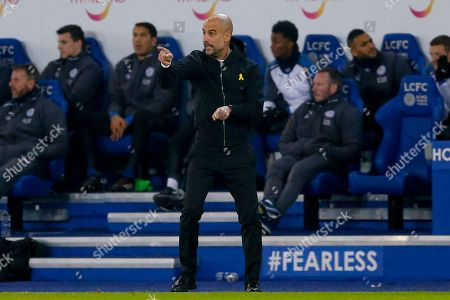 Manchester City Manager Josep Pep Guardiola  during the EFL Quarter Final Cup match between Leicester City and Manchester City at the King Power Stadium, Leicester