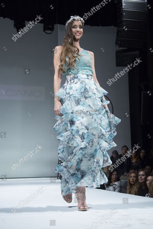 Lorena Ayala on the catwalk