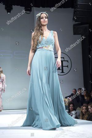 Stock Image of Lorena Ayala on the catwalk