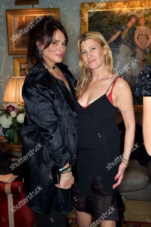 Celia Kritharioti and Sara Parker Bowles
