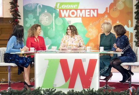 Christine Lampard, Nadia Sawalha, Sarah Millican, Jane Moore and Saira Khan