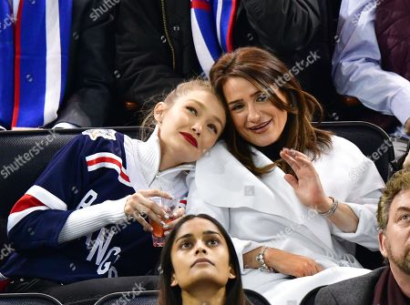 Editorial image of Celebrities at Anaheim Ducks v New York Rangers, NHL ice hockey match, Madison Square Garden, New York, USA - 19 Dec 2017