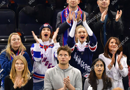 Editorial picture of Celebrities at Anaheim Ducks v New York Rangers, NHL ice hockey match, Madison Square Garden, New York, USA - 19 Dec 2017
