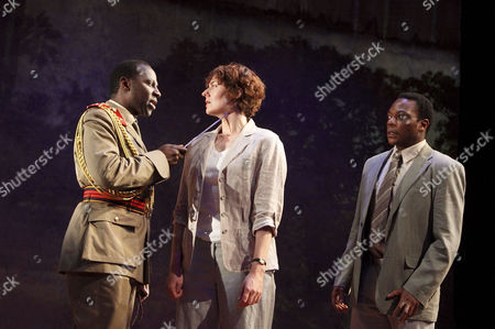 'The Observer' - Cyril Nri as General Okute, Anna Chancellor as Fiona Russell and Chuk Iwuji as Daniel Okeke