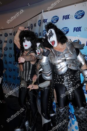Stock Image of KISS Tommy Thayer, Paul Stanley, Eric Singer and Gene Simmon