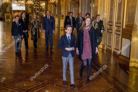 Stock Picture of Princess Claire, Prince Gabriel, Prince Aymeric, Queen Mathilde, Princess Eleonore, King Philippe, Princess Elisabeth , Prince Emmanuel, Prince Nicolas, Princess Astrid, Prince Lorenz, Princess Luisa Maria