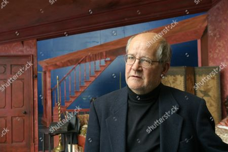 Editorial image of Composer, Nicholas Maw at a rehearsal studio in London, Britain - 17 Nov 2002