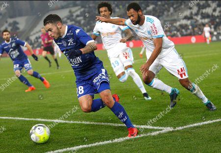 d2a750fb26e8 Bryan Pele, Jorge Pires da Fonseca Rolando. Troyes  Bryan Pele, left, ...