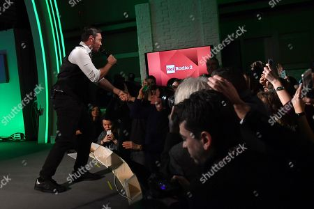 Editorial picture of Tiziano Ferro in concert, Radio2, Rome, Italy - 21 Dec 2017