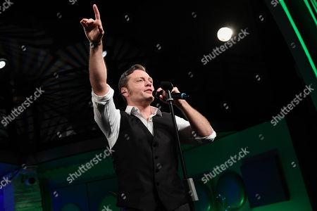 Stock Picture of Italian singer Tiziano Ferro