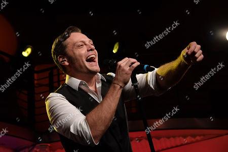 Stock Image of Italian singer Tiziano Ferro