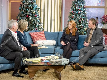 Eamonn Holmes and Ruth Langsford with Alison Phillips and Martin Daubney