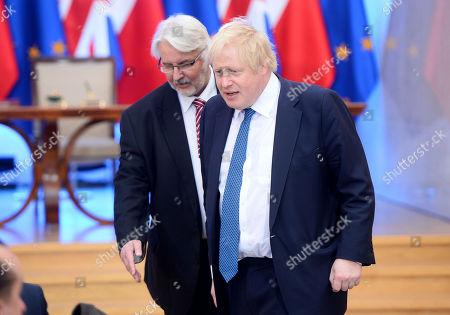 Boris Johnson and Witold Waszczykowski