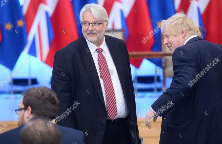 Witold Waszczykowski and Boris Johnson