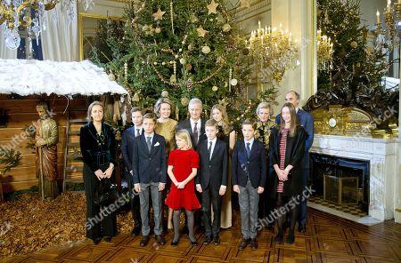 Queen Mathilde, King Philippe, Crown Princess Elisabeth, Prince Gabriel, Prince Emmanuel, Princess Eleonore, Princess Claire, Prince Aymeric, Prince, Princess Astrid, Prince Lorenz, Princess Laetitia Maria