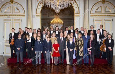 Queen Mathilde, King Philippe, Crown Princess Elisabeth, Prince Gabriel, Prince Emmanuel, Princess Eleonore, Princess Claire, Prince Aymeric, Prince Nicolas, Princess Astrid, Prince Lorenz, Princess Laetitia Maria