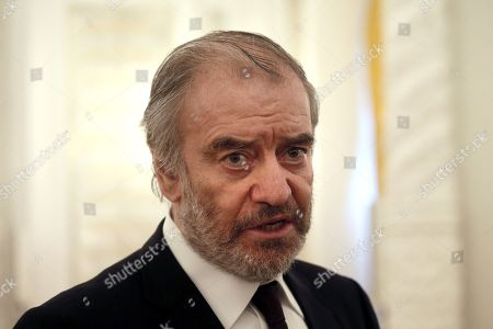 Chief conductor of the Mariinsky Theater Orchestra Valery Gergiev attends a meeting of the Presidential Council for Culture and Art at Moscow's Kremlin, in Moscow, Russia, 21 December 2017.