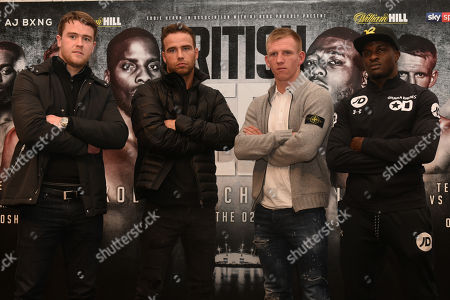 From left: Danny Dignum, Felix Cash, Ted Cheeseman and Ohara Davies during a Press Conference at 20 Cavendish Square Event Space on 21st December 2017