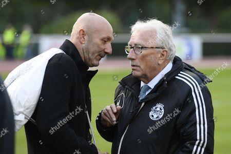 Jacques Vendroux and Fabien Barthez