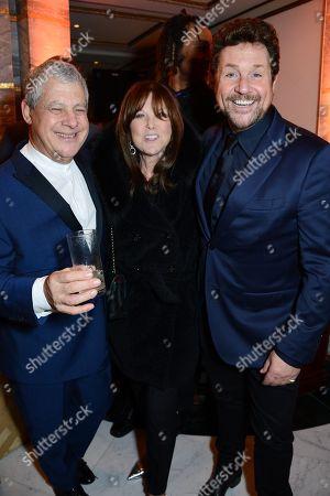 Cameron Mackintosh, Cathy McGowan and Michael Ball