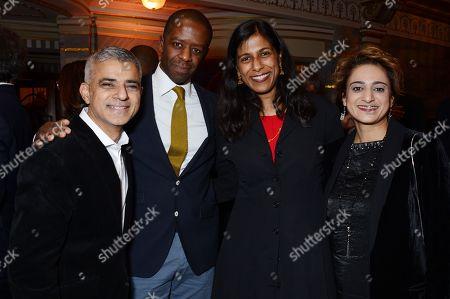 Sadiq Khan, Adrian Lester, Lolita Chakrabarti and Saadiya Khan