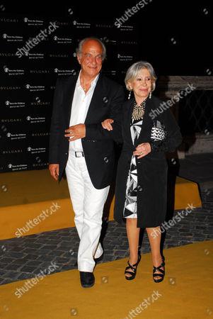 Anna Fendi and husband