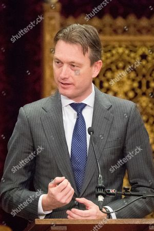 Halbe Zijlstra attends the closing ceremony of the International Criminal Tribunal for the former Yugoslavia (ICTY) in the Ridderzaal