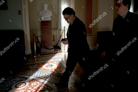 Sen. Al Franken, D-Minn., leaves a luncheon at the Capitol in Washington, . Franken plans to officially leave the U.S. Senate on Jan. 2