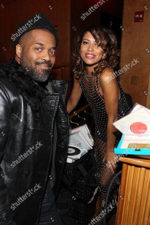 Stock Photo of Rashad Smith and DJ Natasha Diggs