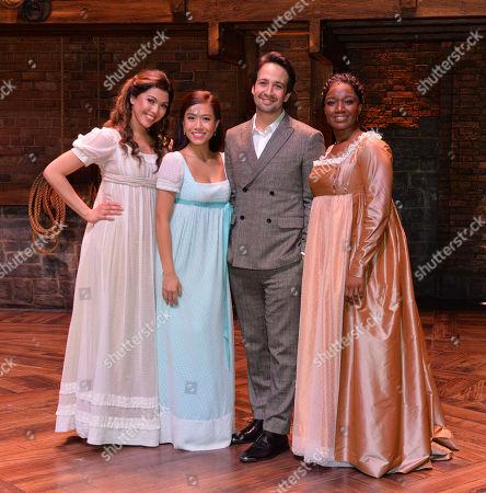 Christine Allado, Rachelle Ann Go and Lin-Manuel Miranda
