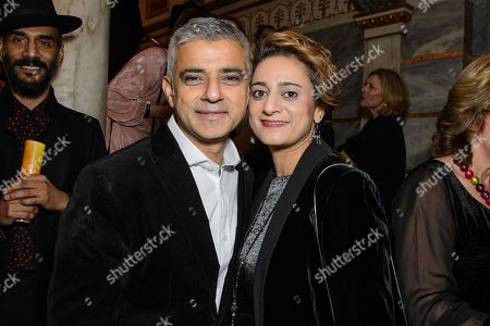 Sadiq Khan with his wife, Saadiya Khan