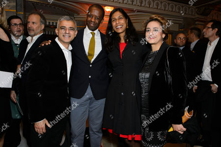 Sadiq Khan with his wife, Saadiya Khan  and Adrian Lester with his wife Lolita Chakrabarti