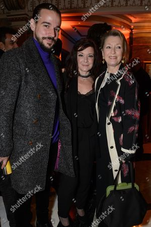 Joseph Timms, Finty Williams and Lesley Manville