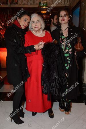 Ruth Negga, Elena Propper de Callejon and her daughter, Helena Bonham Carter