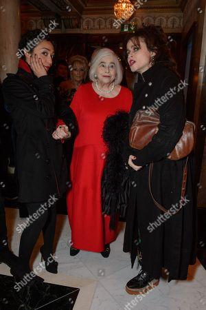 Stock Image of Ruth Negga, Elena Propper de Callejon and her daughter, Helena Bonham Carter