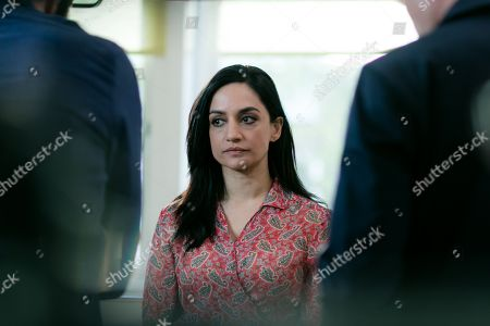 (Ep 1) - Archie Panjabi as Mona Shirani and Enzo Cilenti as Detective Townsend