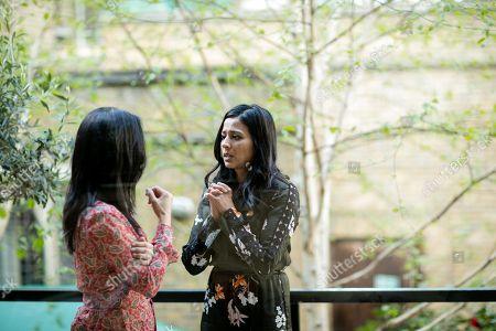 (Ep 1) - Archie Panjabi as Mona Shirani and Farzana Dua Elahe as Rahana Shirani